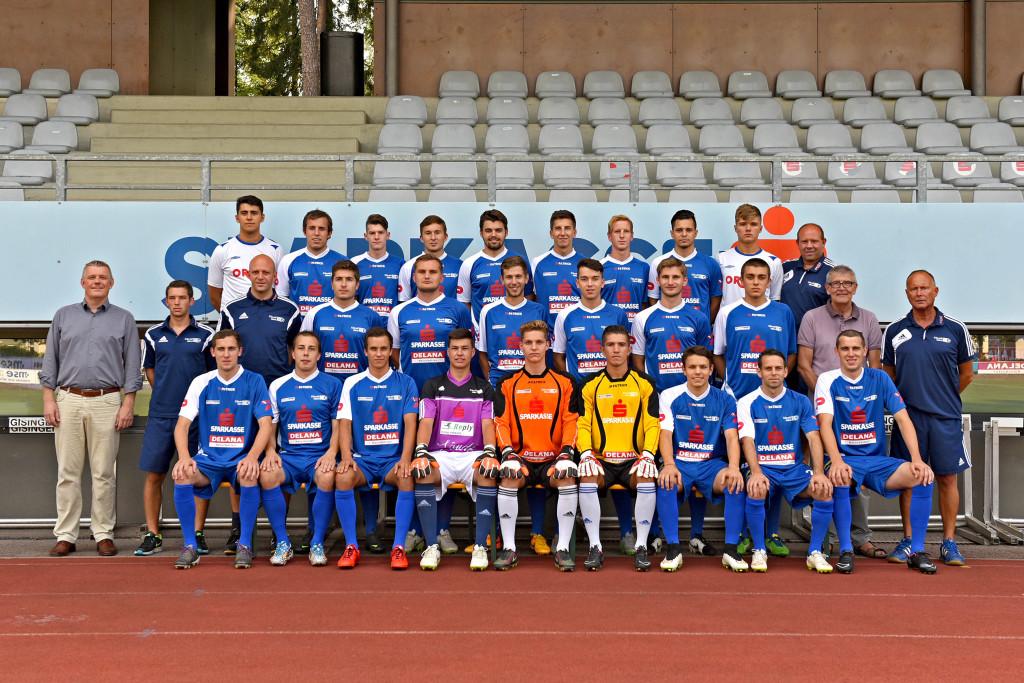 Unser Team mit den neuen Trikots für die Saison 2015/16.