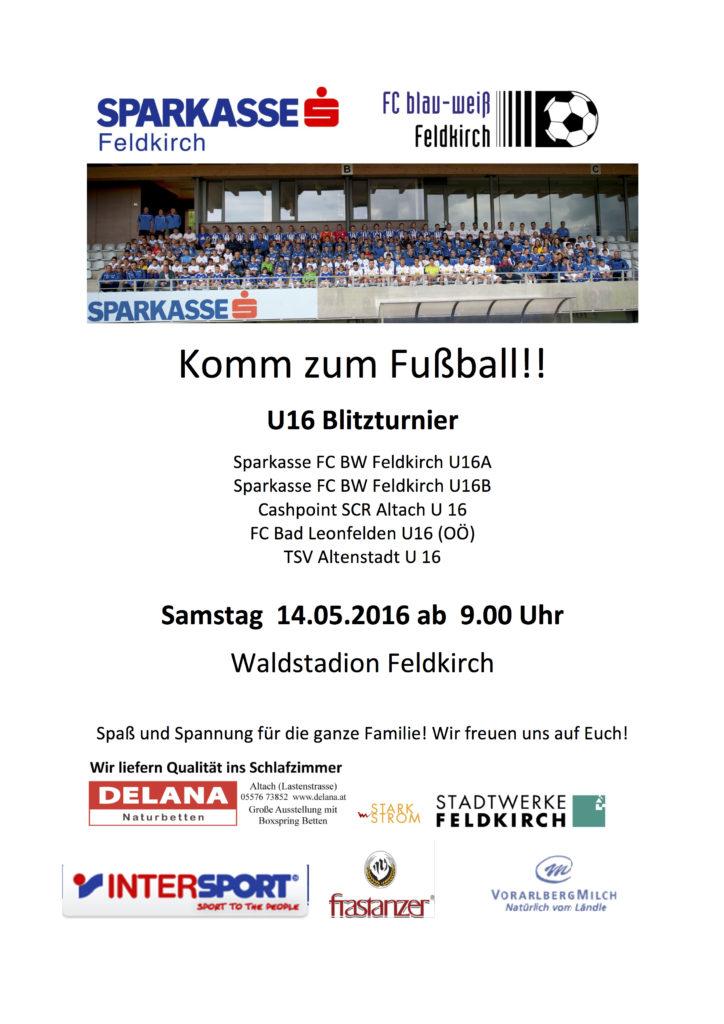 Plakat U16 Turnier